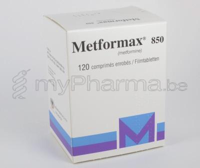 Pharmacie Parent SPRL : METFORMAX 850 MG 120 COMP